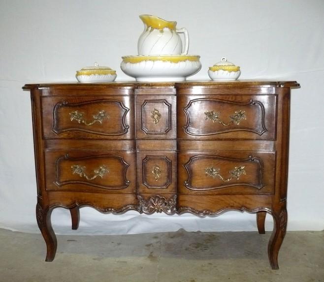 Commode style Louis XV chêne