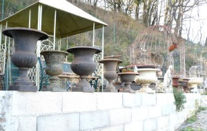 Vases en fontes