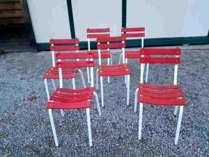 Chaises de jardin en fers
