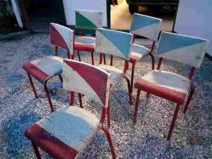 chaises de jardin en rotin